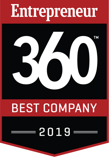 PROUD WINNER OF 2019 ENTREPRENEUR 360™